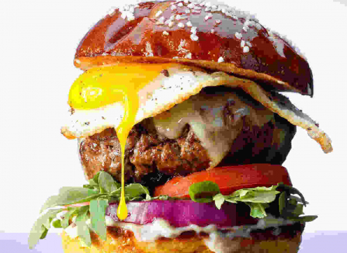 Beef & Egg Burger